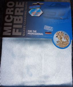 1 X Micro Fibre Glass & Lens Cleaning Cloth Cleans Without Chemicals 40cm X 40cm Free p&p